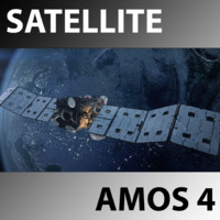 3d model space satellite amos 4