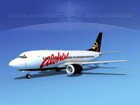 3d boeing 737 737-300 airliner