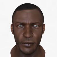 african male head 3d model