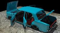 124 tofas lada 3d model