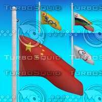 flags china - loop 3d max
