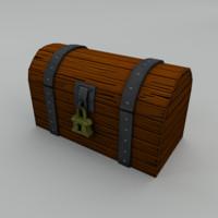 treasure chest 3d obj