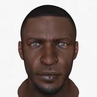 3d model african male head