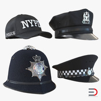3ds police hats 2