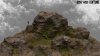 3d model rock mount
