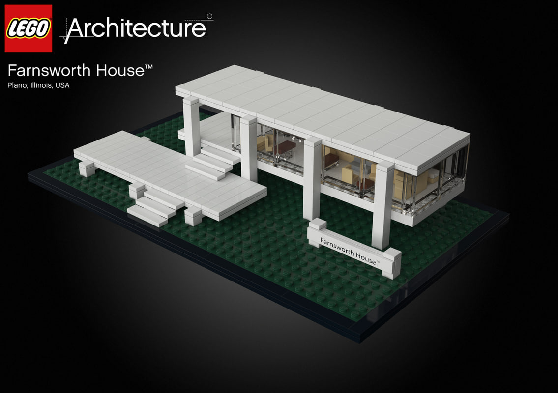 3d farnsworth house lego model for Lego house original