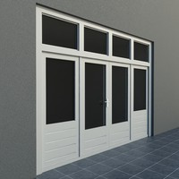 upvc french patio double door 3d 3ds