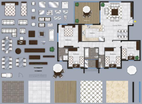 Texture Psd 2d Furniture Floorplan Plan Pinterest 2d