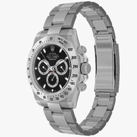 realistic rolex daytona steel 3d model