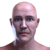 hyper realistic male human character 3d model