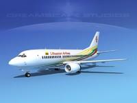 3d boeing 737 airliner 737-300 model
