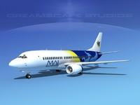 boeing 737 737-300 3d dwg