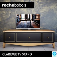 3d model claridge tv stand roche