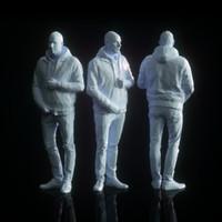 free male character human 3d model