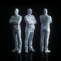 3d male character human model
