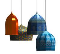3d model islamic lamps