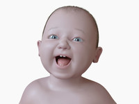 3d model of toddler baby boy