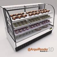 bakery case 3d model