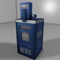 3d news paper box model