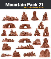 mountains pack 21 3d model