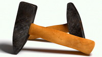3d worn scratched hammer