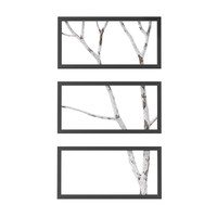 wall birch branch 3d model