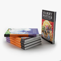3d book harry potter model
