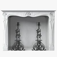 3d art nouveau statuary marble