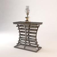 eichholtz console table barolo 3d obj