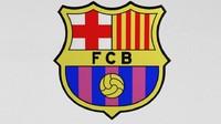 3d model fc barcelona logo