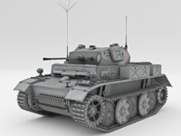 light tank pzkpfw ii 3d model