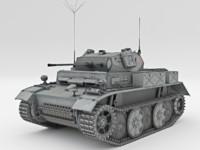 light tank pzkpfw ii 3d model