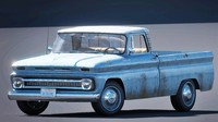 chevrolet pickup 1964 3d obj