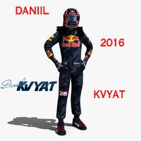 3d c4d daniil kvyat 2016