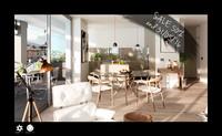 scene modern living room interior 3d c4d