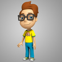 3d model stylized boy