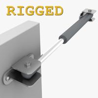 3d model hinge cabinet