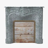3d art deco fireplace model