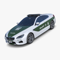 3d bmw 6 series police model