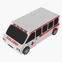 ambulance collada dae 3d model