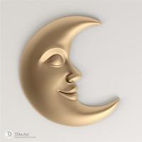 moon cnc stl 3d model