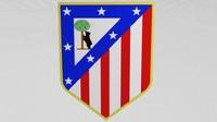 atletico madrid logo 3d obj