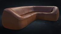 3d model montis ringo corner sofa