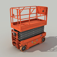 Scissor Lift Platform - Low Poly