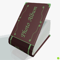 leather photo album customizable 3d model