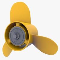 boat propeller 3d c4d