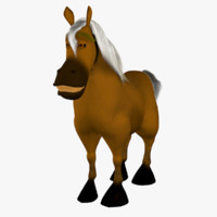 3d max funny cartoon horse