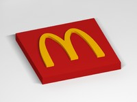 3d mc donald s logo