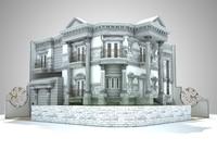 classic house design 3d model