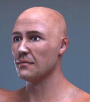 hyper realistic male human character 3d obj